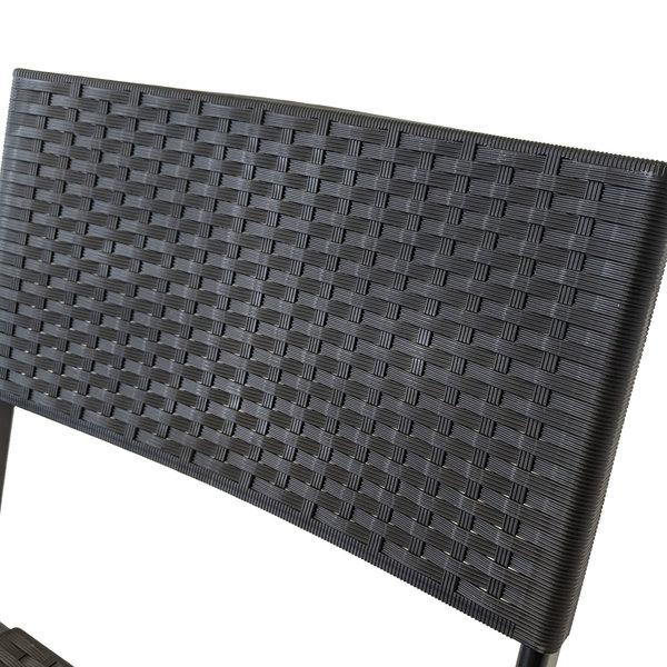 Relaxwonen Relaxwonen - Tuinmeubelset - Bistroset - Balkonset - Polyrotan - 58 x 58 x 70 cm