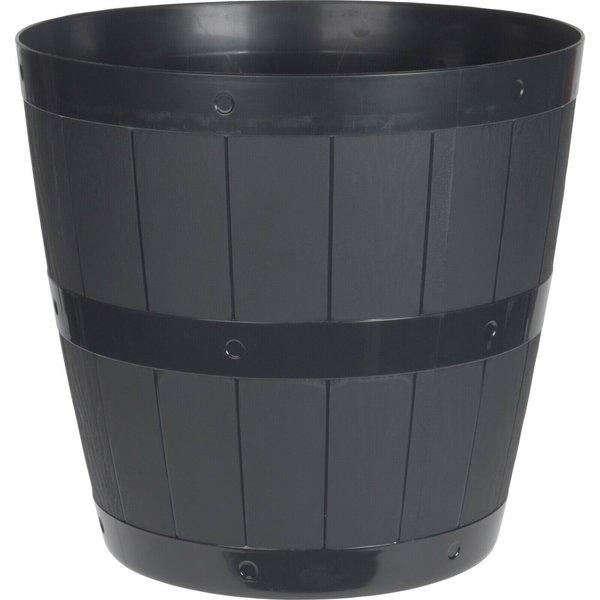 Relaxwonen Relaxwonen - Bloempot - Zwart - uniek - wijnvat  - 28cm diameter
