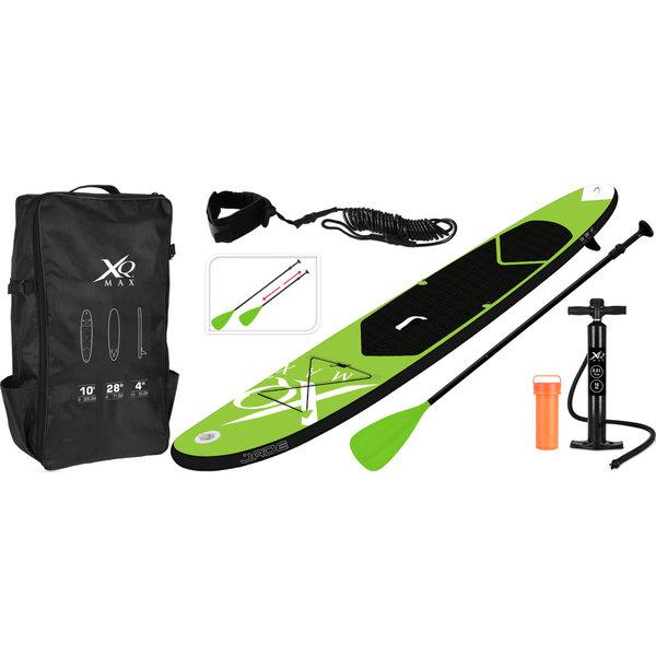 XQmax Relaxwonen XQmax Sup - Groen - 305x71x10cm - inclusief accessoires -  met pomp, peddel en draagtas