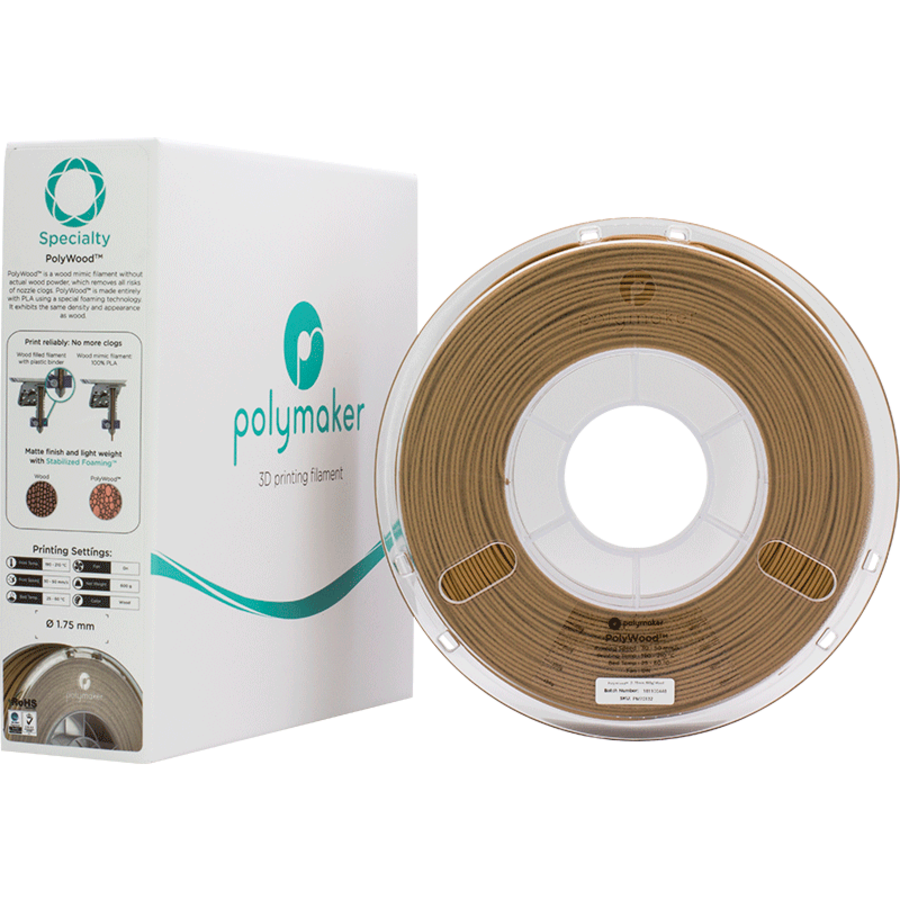 Polymaker Speciality PolyWood - Houtbruin-6