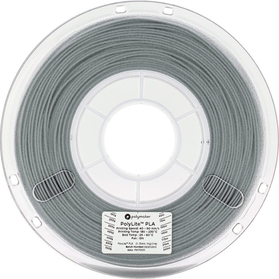 Polymaker PolyLite PLA - Grijs-2