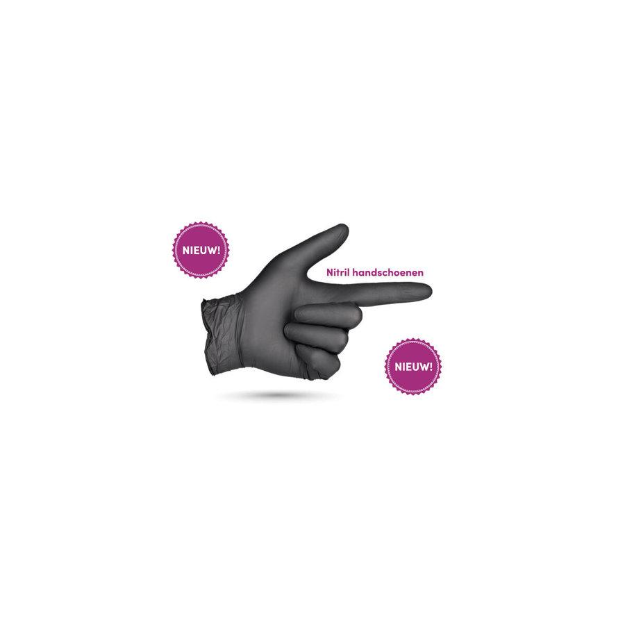 Zwarte Nitril handschoenen  Maat S-2