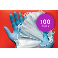 thumb-3-LAAGS MONDKAPJES - 100 STUKS VERPAKT --1
