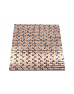 Luxury Tiles Self adhesive mosaic tiles cooper, pink