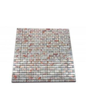 SELF ADHESIVE MOSAIC Tiles- Renaissance - copper / blue / gray