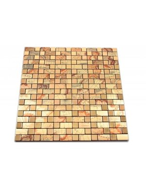 Luxury Tiles self adhesive mosaic tile gold patterned
