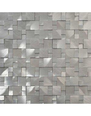 Aluminium 3D Mosaic Tile Metal/ Silver