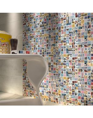 Hollywood- Popcorn theme Mosaic Tile