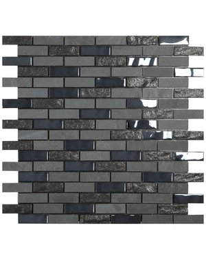 Mosaic Tile smart self adhesive black brickstone