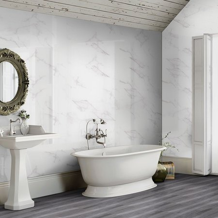 Calacatta Marble Effect 60x30 Gloss Tiles