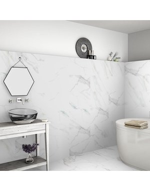 Luxury Tiles Calacatta Marble Effect 60x30 Matt Tiles