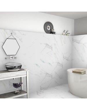 Calacatta Marble Effect 60x60 Matt Tiles