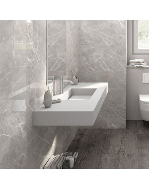 Crepuscolo Pearl Matt Marble Effect 75x37 Tiles