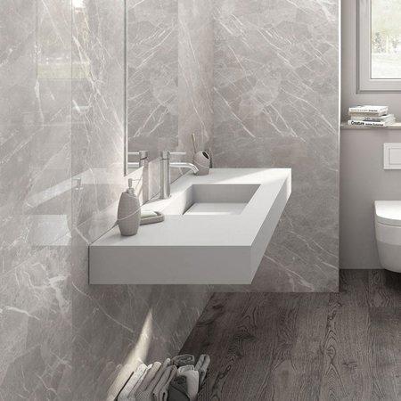 Crepuscolo Pearl Matt Marble Effect 75x37 Tiles