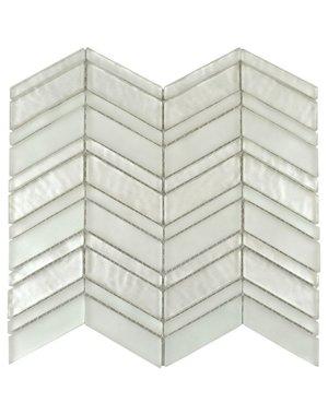Luxury Tiles Chevron Archway White Mosaic Tile
