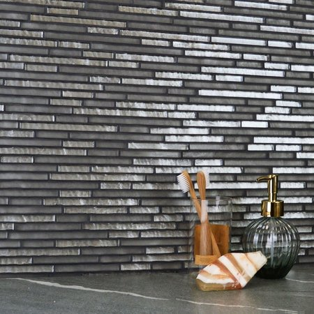Atlantic Linear Pebble Grey Mosaic Tiles