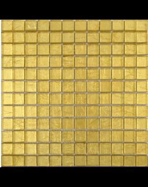 Luxury Tiles Metallic Gold Glass Mosaic Tile 30cm x 30cm