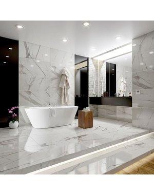Belgravia Polished Statuario Marble Effect Tiles