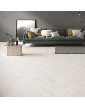 Nyans Island White Wood Effect Floor and Wall Tiles