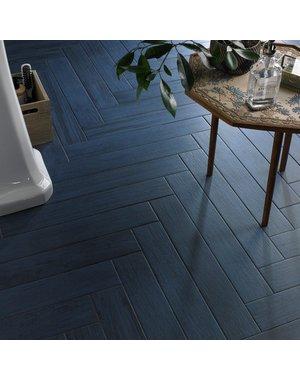 Luxury Tiles Bevel Blue Wood Effect Tiles floor and wall