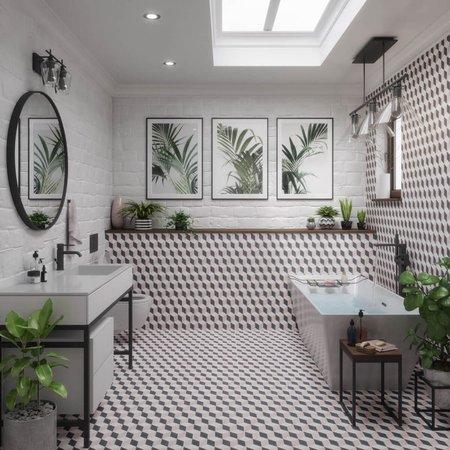 British Ceramic Tiles BCT Tiles Feature Floors Illusion Blush Matt Wall & Floor Tiles - 331 x 331mm - BCT58656