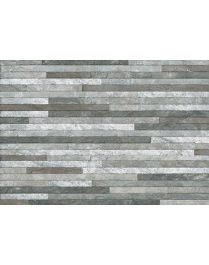 Luxury Tiles Grey mix linear splitface mosaic Tile