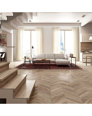 Cherished Mix Wood Effect Chevron Tiles