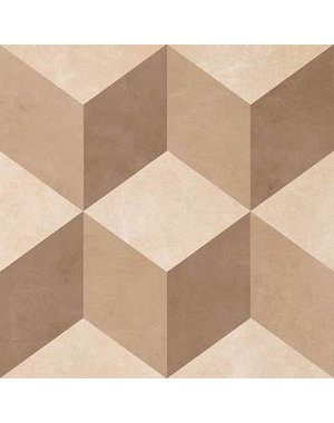 British Ceramic Tiles Feature Floor illusion Neutral Wall & Floor Tile