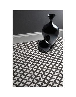 British Ceramic Tiles Feature Floors Bertie Black & Ivory 331x331 BCT28642