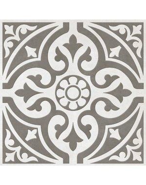 British Ceramic Tiles Devonstone Light Grey Patterned Floor Tile 33 x 33cm