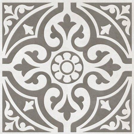 Devonstone Light Grey Patterned Floor Tile 33 x 33cm