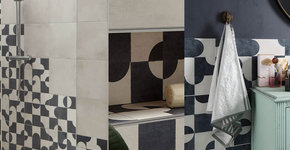 Ted Baker Indigo Blocks Bathroom Tiles