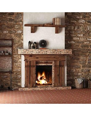 Red Plain 15x15 Hexagon Quarry Tiles