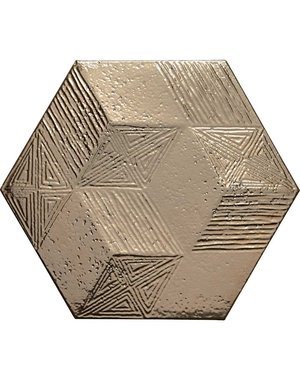 Allure Gold Hexagon Kitchen Tile