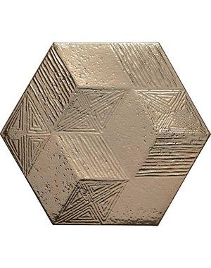 Luxury Tiles Textured Gold Ore Hexagon Kitchen Tiles