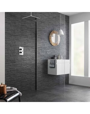 British Ceramic Tiles BCT HD Slate Splitface Black Wall Tiles 248mm X 498mm