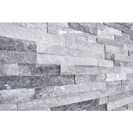 Luxury Tiles sky grey slate tile split face cladding 10x36cm
