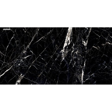 White Gold & Onyx Black Marble stone effect Wall and floor Tile