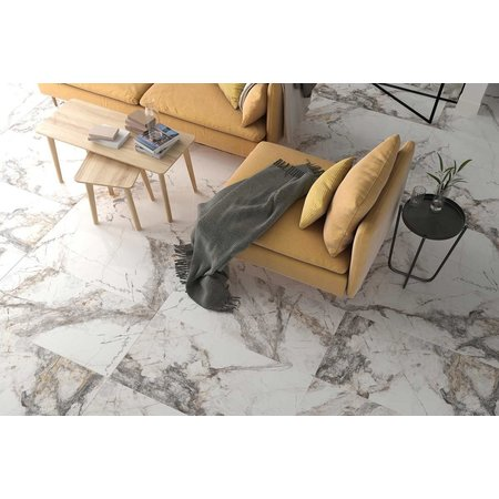 golden brown marble polished wall and floor tile