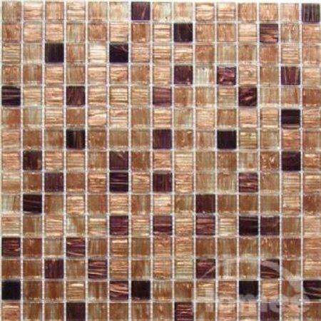 Sandstone Square Glass Mosaic Tile
