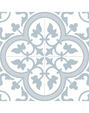 Charter Powder Blue classic pattern wall and floor tile