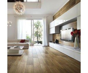 Dark Oak Stain Wood Effect Floor Tile Luxury Tiles