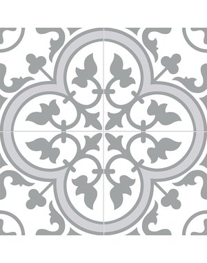 Charter Slate Grey classic pattern wall and floor tile