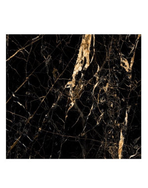 Luxury Tiles Gold Creama & Jet Black Marble Effect 60cm x 60cm Floor and Wall Tile
