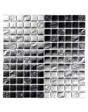 Luxury Tiles Silver Chrome Glass Mosaic Tile