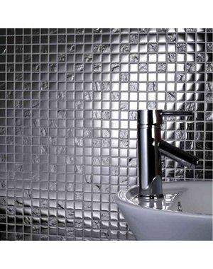 Silver Chrome Glass Mosaic Tile