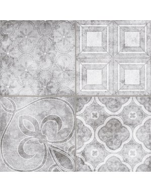 Luxury Tiles Vintage Grey Mix Pattern Tile