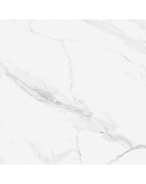 Blanco 450 x 450 mm Carrara Marble Effect  Gloss Ceramic Floor Tile