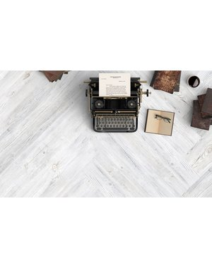 White Washed Wood Effect Porcelain Tile 23x120cm