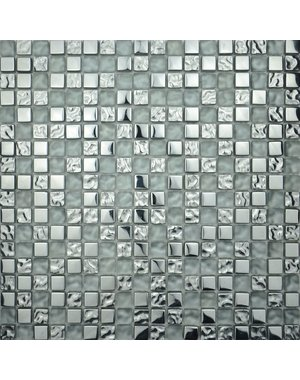 Artic Silver Glass Mosaic tile